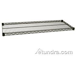 Focus Foodservice FF1854G Green Epoxy Coated Wire Shelf, 18'' X 54'', Zinc underplated Wire