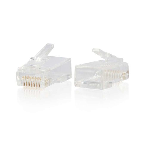 C2G/Cables to Go C2G/Cables to Go RJ45 Cat6 Modular Plug for Round Solid/Stranded Cable - 100pk
