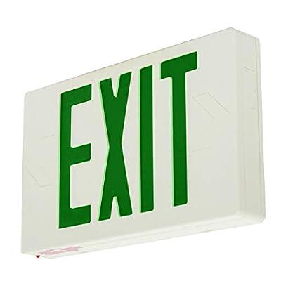 LFI Lights - Green LED Exit Signs - Standard - Battery Backup - Self Testing - LEDGBBST