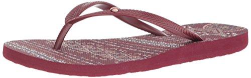 Roxy Women's Bermuda Sandal Flip Flop Burgundy, 8 M US