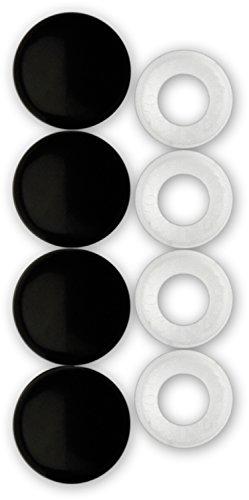 Cruiser Accessories 82650 License Plate Frame Fastener Caps, Black (Screw Caps License Plate)