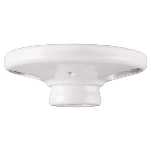 "GE Keyless Medium Base Porcelain Lampholder, Mount on 3-1/4"" or 4"" Box, UL Listed, White, 18304"