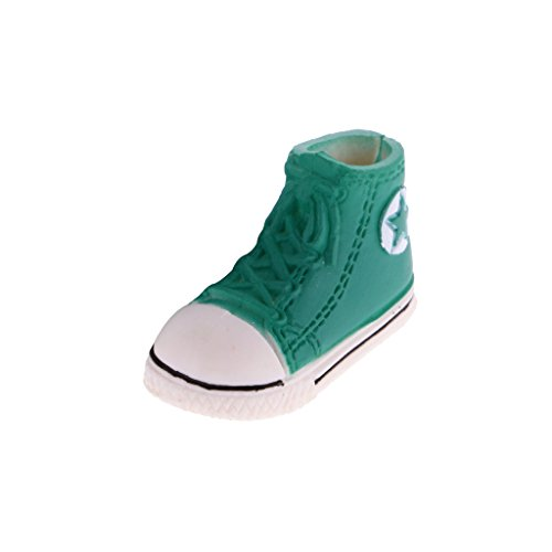 MagiDeal 1.6'' Plastic Doll Lace up Canvas Shoes Sneakers Sports Shoes for 1/6 Blythe BJD Dolls Green