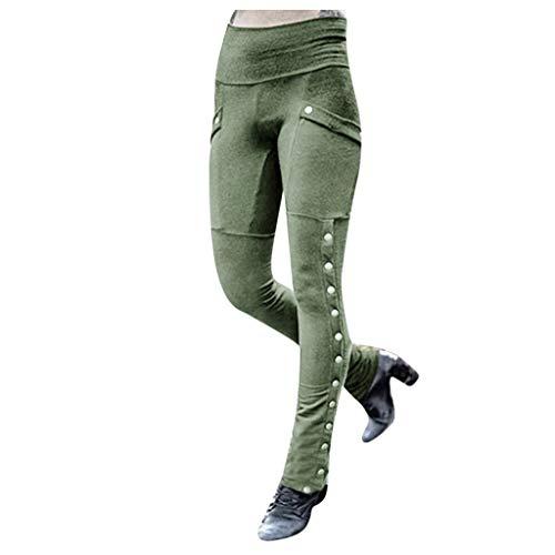 MINGLIFE Wide Leg Pants Solid Buttons Front Slit Casual Long Loose Slim Trousers Punk Street Harem Pants