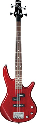 Ibanez 4 String Bass Guitar, Right Handed, Transparent Red (GSRM20TR)