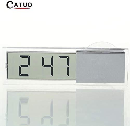 HarveyRudol85 Coche Reloj electrónico Mini LCD Transparente y Duradera Pantalla Digital con Sucker: Amazon.es: Hogar