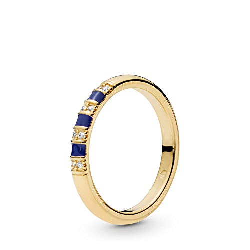 - PANDORA Exotic Stones and Stripes 18k Gold Plated PANDORA Shine Collection Ring, Size: EUR-60, US-9-168052CZ-60