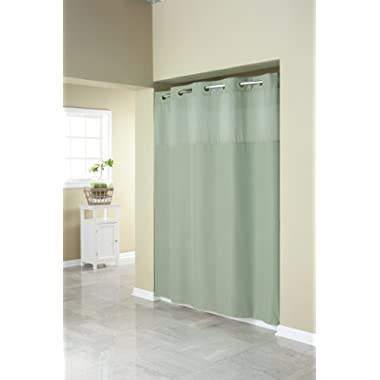 Hookless RBH40MY409 Fabric Shower Curtain with Built in Liner  -Sage