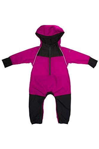 Stonz Rain Suit Muddy Buddy Waterproof Coverall for Baby Toddler Girl Boy Rainsuit Rain Coat, Fuschia, 3T - Le Top Boys Coverall