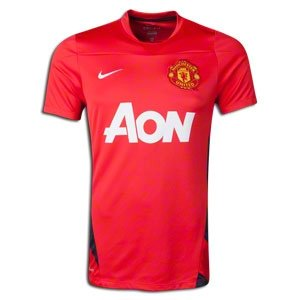 81f27d5e0af Image Unavailable. Image not available for. Colour  Nike Soccer Replica Jersey  Manchester United CL Training Top 13 14