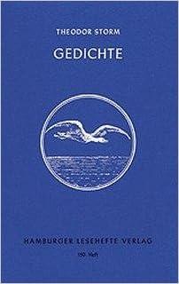 Gedichte Theodor Storm Hamburger Lesehefte Nr 150