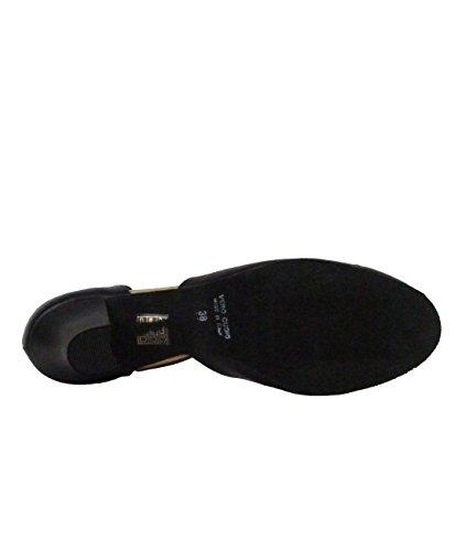9210 Rumpf Ladies Dance Shoes Balboa Latin Salsa Rumba Tango Ballroom Shoes Leather Upper Suede Sole 2´´ Heel Made in Italy! Black Lt6vzozT