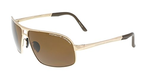Porsche Design Sunglasses P8542 B Titanium Brown with Gold Frame 65-11 - - Design Porsche Glasses Sun