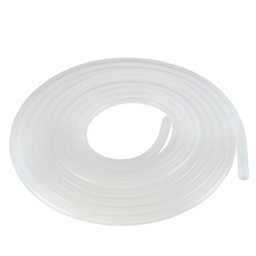 uxcell Silicone Tube 5mm ID X 7mm OD 9.84 Flexible Silicone Rubber Tubing Water Air Hose Pipe Translucent for Pump Transfer