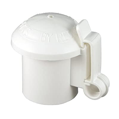 Red Snap'r ITCPW-RS T-Post Safety Cap and Insulator, White, 10 Count