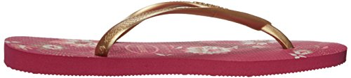 Women's Havaianas Slim Strap Slip Raspberry Rose Thong On Organic Sandals rdd15qPw