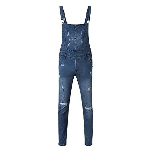 De Hommes Bretelles Combinaison Bhydry Pour Bleu Délavé Jeans Pantalon Décontracté À Sqpxww1n