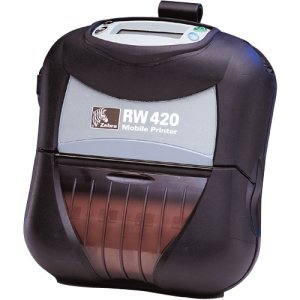 Zebra RW 420 Direct Thermal Printer - Monochrome - Mobile - Receipt Print. RW420 DT 203DPI 8/16MB WIRELESS 4IN STANDARD MEDIA HANDLING RP-MB. 2.99 in/s Mono - 203dpi - Wi-Fi - USB - Battery Include - LCD