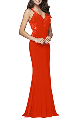 Promworld Damen A-Linie Kleid Orange 33b7l