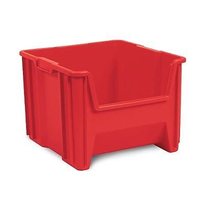 Akro-Mils Stak-N-Store Stacking Hopper Front Plastic Storage Bin, Case of 3 by Akro-Mils