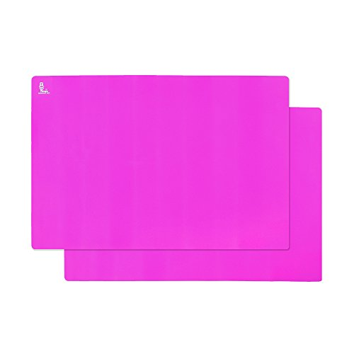 Super Kitchen Extra Large Multipurpose Silicone Nonstick Baking Mat, Pastry Mat, Heat Resistant Nonskid Table Mat, Countertop Protector, 2416(2 Pack Purple )