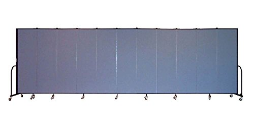 11 Panel Freestanding Partition (Freestanding 80 in. Portable Room Divider w 11 Panels (Lake Fabric))