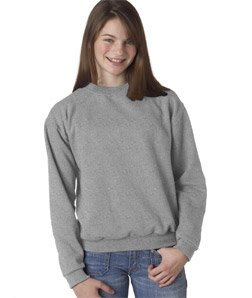 Jerzees 50/50 Youth Crewneck Sweatshirt, S, Oxford (Jerzees 562b Sweatshirt)