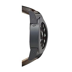 De Grisogono Instrumento Tondo Automatic GMT with Power Reserve. PVD Brown Strap