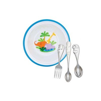 Reed And Barton Jungle Parade Baby Dinner Gift (Silverplate Dinner Fork)