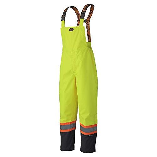 Hi-Vis Green Hi-Vis Rain Bib Pants M