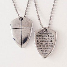 (Necklace-Shield Of Faith (Cross) w/24