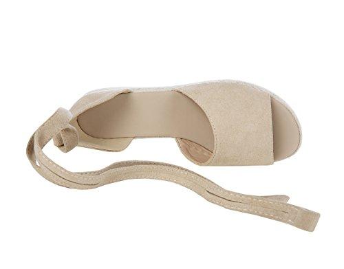 3637fe30d136 Fashare Womens Espadrilles Tie Up Flat Sandals Peep Toe Classic Cutout  D Orsay Dress Shoes