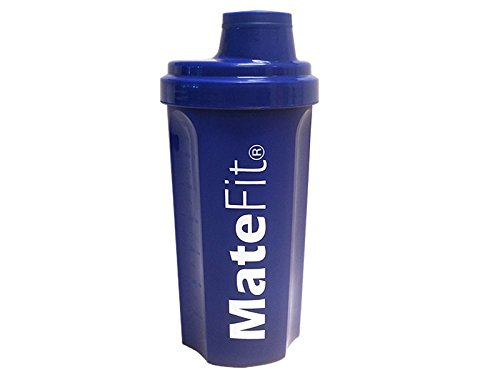 Shaker Bottle Blue - MateFit , with mesh lid to mix lumps and to stop ice cubes when drinking , 700 ml / 24 Ounce with a track record of positive user reviews