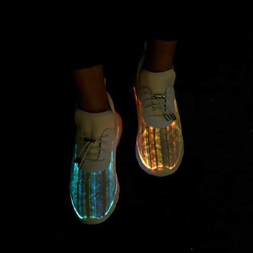 All'aria Rosa Lampeggiante Ricarica Usb Di Aperta Da Scarpe Up Sneakers Compleanno Bianco Traspiranti on Luminoso Gracosy Walking Donna Corsa Natale Light Grigio Led Ginnastica Regalo Slip AwFSqpOq