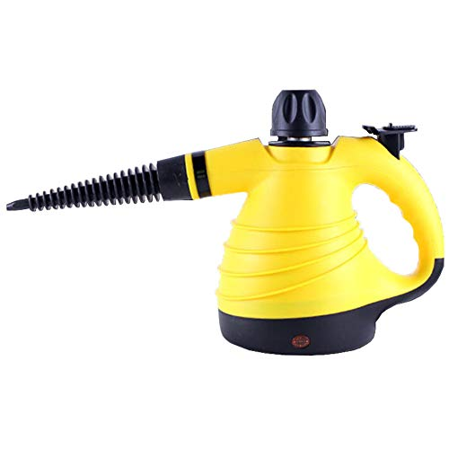Homeself Handheld Steam Cleaner 1050W, Portable Pressurized Steamer with 6 Multi-Purpose Nozzles Accessory Set, 300ml Chemical-Free Steam Cleaning for Car, Kitchen, Floor, Stain Removal (Yellow) by Homeself