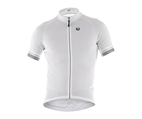 Giordana 2015 Men's Fusion Short Sleeve Cycling Jersey, White/Silver, -