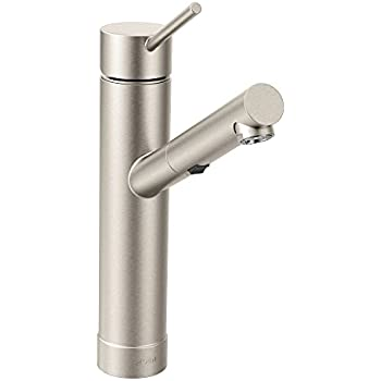 Moen 7626SRS Tilt One Handle Low Arc Pullout Kitchen Faucet, Spot Resist  Stainless