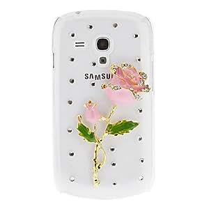 CECT STOCK Rhinestone Rose y cubierta trasera dura de nuevo caso del patrón para Samsung Galaxy S3 I9300 , Verde