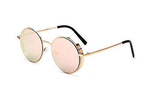 Gafas de de no Gafas mujer para de hombre sol y rosa moda protectoras polarizadas vintage retro UV400 sol Oro Pxx8zIw