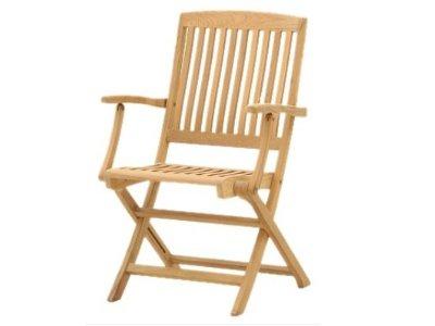 Amazon.com: Atlanta Teak Furniture - Teak Folding Arm Chair ...
