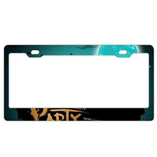 YEX Halloween Party License Plate Frame Novelty Car Licence Plate Covers Auto Tag Holder Tag Sign -