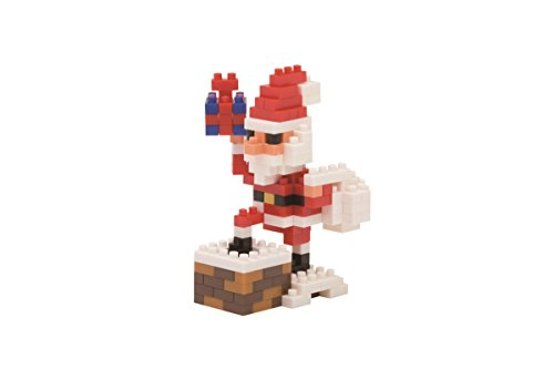 (Nanoblock Santa Claus On The Chimney Building Kit)