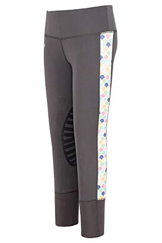 TuffRider Children's Iris EquiCool Riding Tights | Color - Charcoal, Size - Medium