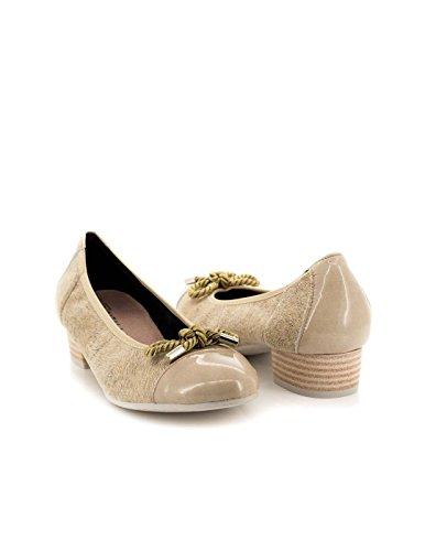 Zapato Pitillos De Lycra Beige 1053 Beige
