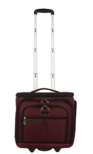 Ciao Designer 15 Inch Carry On – Weekender Overnight Business Travel Luggage- Convertible 2- Spinner Wheels Suitcase…