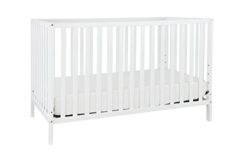 Union 3-in-1 Convertible Crib, White (Daybed Wood Traditional)