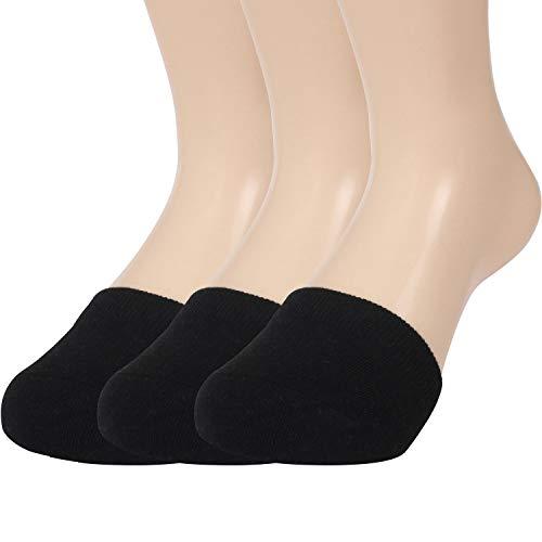 Triplewood Women's Toe Topper Socks Cotton Toe Cover No Show Half Socks for High Heel 3-6 Pairs