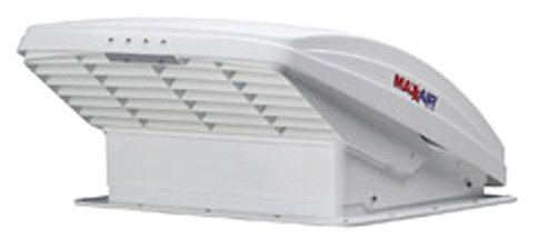 Maxxair-00-05100K-MaxxFan-Ventillation-Fan-with-White-Lid-and-Manual-Opening-Keypad-Control