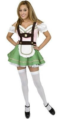 Bavarian Beer Garden Girl Costume - X-Large - Dress Size 14-16 -