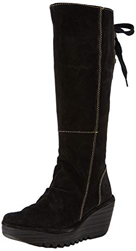 Noirblack Femme London Fly 006 YustBottes 80PwknO